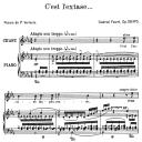 C'est l'extase Op.58 No.5, High Voice in E-Flat Major, G. Fauré. For Soprano or Tenor. Ed. Leduc (A4) | eBooks | Sheet Music