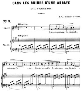 Dans les ruines d'une abbaye Op.2 No 1, High Voice in A Major, G. Fauré. For Soprano or Tenor. Ed. Leduc (A4) | eBooks | Sheet Music