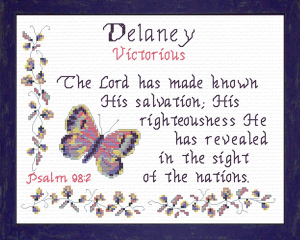 Name Blessings - Delaney | Crafting | Cross-Stitch | Religious