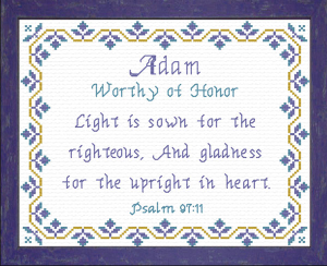 Name Blessings - Adam 3 | Crafting | Cross-Stitch | Religious