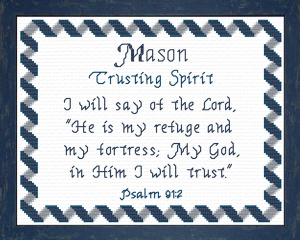 Name Blessings - Mason 2 | Crafting | Cross-Stitch | Religious