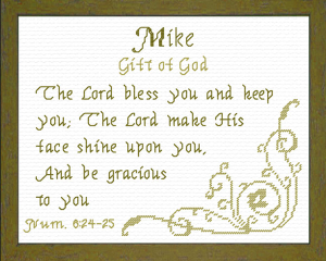 Name Blessings - Mike 2 | Crafting | Cross-Stitch | Other