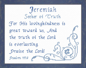 Name Blessings - Jeremiah | Crafting | Cross-Stitch | Religious