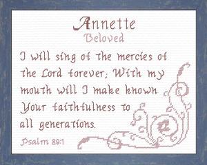 Name Blessings - Annette | Crafting | Cross-Stitch | Religious