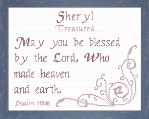Name Blessings - Sheryl 2 | Crafting | Cross-Stitch | Religious
