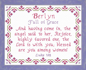 Name Blessings - Berlyn   Crafting   Cross-Stitch   Religious