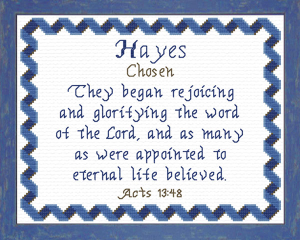 name blessings - hayes
