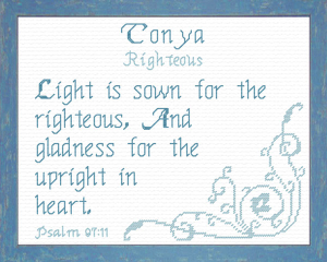 Name Blessings - Tonya | Crafting | Cross-Stitch | Religious