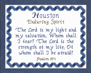 Name Blessings - Houston | Crafting | Cross-Stitch | Religious