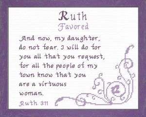 Name Blessings - Ruth 3   Crafting   Cross-Stitch   Religious