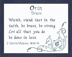 Name Blessings - Orin | Crafting | Cross-Stitch | Religious