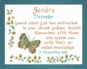 Name Blessings - Sandra 2 | Crafting | Cross-Stitch | Religious