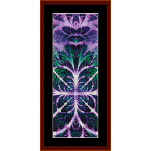 fractal 624 bookmark cross stitch pattern by cross stitch collectibles