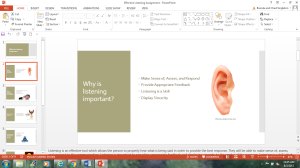 Effective Listening Assignment | Documents and Forms | Research Papers