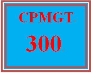 cpmgt 300 week 1 project charter