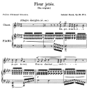 Fleur jetée Op.39 No.2, High Voice in F minor, G. Fauré. For Soprano or Tenor. Ed. Leduc (A4) | eBooks | Sheet Music