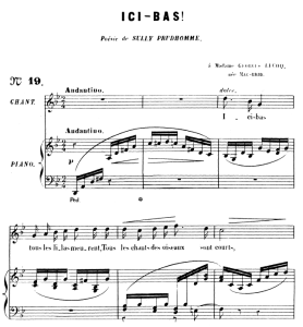 Ici bas Op.8 No 3, High Voice in G minor, G. Fauré. For Soprano or Tenor. Ed. Leduc (A4) | eBooks | Sheet Music