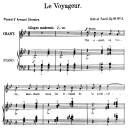 Le voyageur Op.18 No.2, High Voice in G minor, G. Fauré. For Soprano or Tenor. Ed. Leduc (A4) | eBooks | Sheet Music
