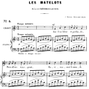 Les matelots Op.2 No.2, High Voice in Ft Major, G. Fauré. For Soprano or Tenor. Ed. Leduc (A4) | eBooks | Sheet Music