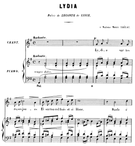 Lydia Op.4 No.2, High Voice in G Major, G. Fauré. For Soprano or Tenor. Ed. Leduc (A4) | eBooks | Sheet Music