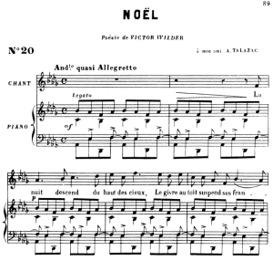 Noël Op. 43 No.1, High Voice in A-Flat Major, G. Fauré. For Soprano or Tenor. Ed. Leduc (A4) | eBooks | Sheet Music