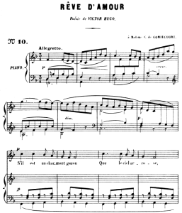 rêve d'amour op. 5 no.2, high voice in f major, g. fauré. for soprano or tenor. ed. leduc (a4)