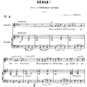 Seule! Op.3 No.1, High Voice in G minor, G. Fauré. For Soprano or Tenor. Ed. Leduc (A4) | eBooks | Sheet Music