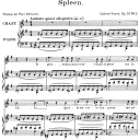 Spleen Op.51 No.3, High Voice in E minor, G. Fauré. For Soprano or Tenor. Ed. Leduc (A4) | eBooks | Sheet Music