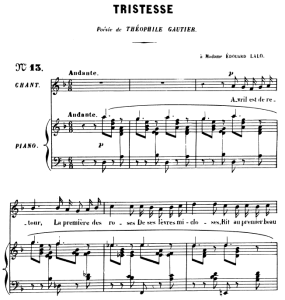 tristesse op. 6 no.2, high voice in d minor, g. fauré, for soprano or tenor. ed. leduc (a4)