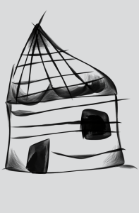 hut sketch