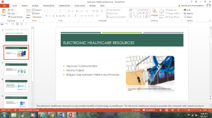 Electronic Healthcare Resources | Documents and Forms | Research Papers