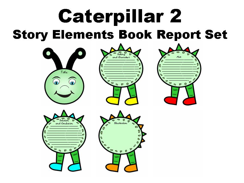 50 off caterpillar book report set documents and forms templates