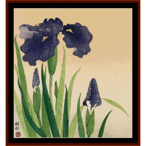 Flowering Iris (Asian Art) cross stitch pattern by Cross Stitch Collectibles | Crafting | Cross-Stitch | Wall Hangings