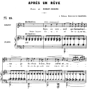 Après un rêve Op.7 No.1, Medium Voice in C Minor, G. Fauré, For Mezzo or Baritone. Ed. Leduc (A4) | eBooks | Sheet Music