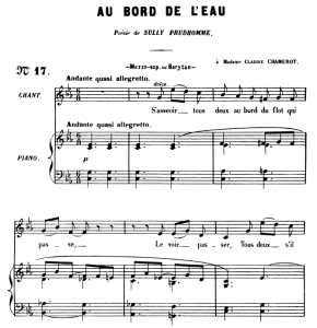 Au bord de l'eau Op.8 No.1, Medium Voice in C Minor, G. Fauré,  For Mezzo or Baritone. Ed. Leduc (A4)   eBooks   Sheet Music