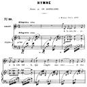 Hymne Op.7 No.2, Medium Voice F Major, G. Fauré. For Mezzo or Baritone. Ed. Leduc (A4) | eBooks | Sheet Music