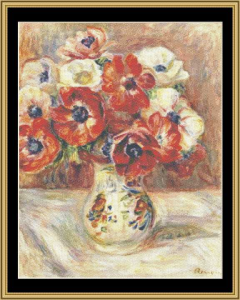 still life with arimones - renoir
