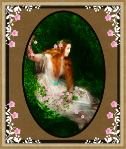 vintage floral framed beauty