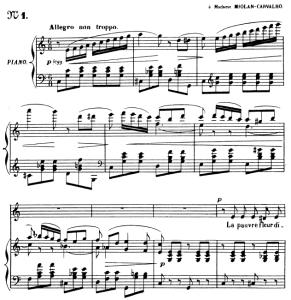 le papillon et la fleur op.1 no.1, medium voice in c major, g. fauré. for mezzo or baritone. ed. leduc (a4)