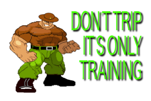 don't trip it's only training