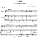 Seule! Op.3 No.1, Medium Voice in E minor, G. Fauré. For Mezzo or Baritone. Ed. Leduc (A4) | eBooks | Sheet Music