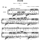Sylvie Op.6 No.3, Medium Voice in F Major, G. Fauré. For Mezzo or Baritone. Ed. Leduc (A4) | eBooks | Sheet Music