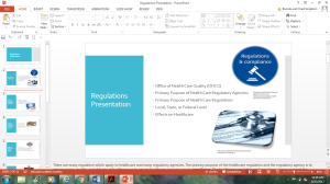 regulations presentation
