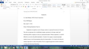 assignment 2: expatriates