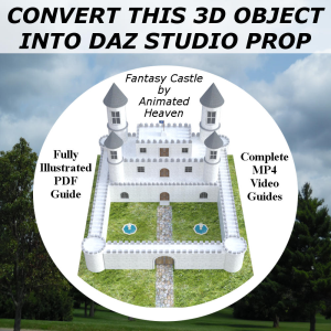 build your library of content for daz studio with fantasy castle