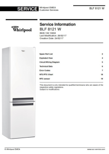Whirlpool BLF 8121 W refrigerator Service Manual | eBooks | Technical