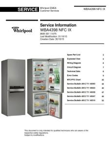 Whirlpool WBA 4398 NFC IX refrigerator Service Manual   eBooks   Technical