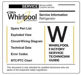 Whirlpool WBC 36992 NFC CB refrigerator Service Manual   eBooks   Technical