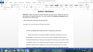 Authors Worksheet | Documents and Forms | Research Papers