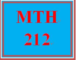 MTH 212 Week 5 MyMathLab® Final Examination   eBooks   Education